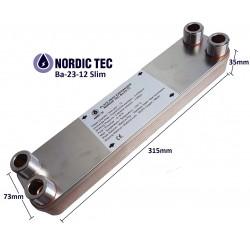 """Plate Heat Exchanger NORDIC Ba-23-12 3/4"""" 55kW"""