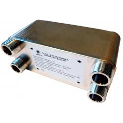 """Plate Heat Exchanger NORDIC Ba-16-40 1"""" 150kW"""