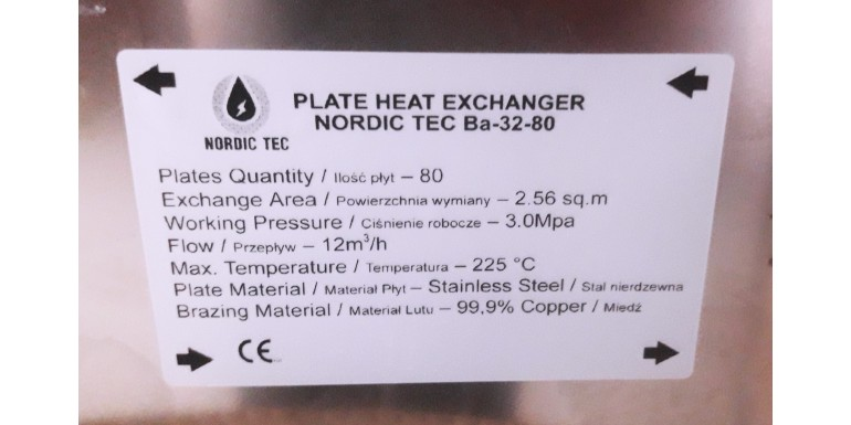 How to properly connect a Nordic Tec heat exchanger? May I change the directions of flows?